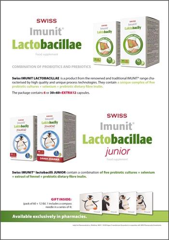 Laktobacily SWISS Imunit<small><sup>®</sup></small>