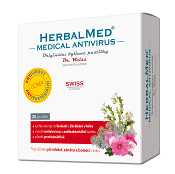 HERBALMED<small><sup>®</sup></small> Medical Antivirus pastilky Dr. Weiss<small><sup>®</sup></small>