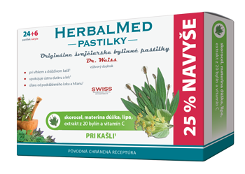 HERBALMED® pastilky Dr.Weiss - skorocel, materina dúška alipa