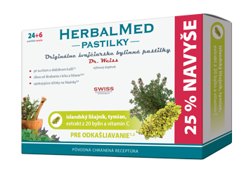HERBALMED® pastilky Dr.Weiss - islandský lišajník atymian