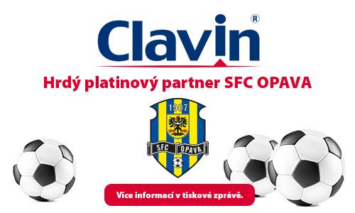 Clavin hrdý platinový partner SFC OPAVA